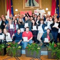 Alle erstplatzierten UnternehmerInnen der 23 Wiener Bezirke