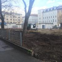 Baustelle JNV - Erste Grabungen