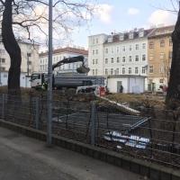 Baustelle JNV - Grabungen